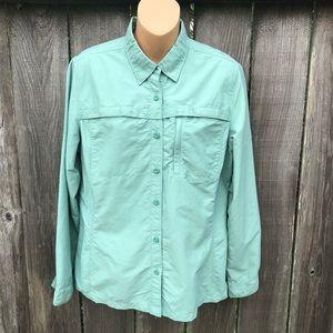 LL Bean Long Sleeve Fishing Shirt Camping Outdoor